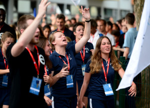 13.07.2016., Zagreb - Studenti europskih sveucilista okupljaju se na Mladosti uoci svecanog otvorenja Europskih sveucilisnih igara. Photo: Marko Prpic/PIXSELL